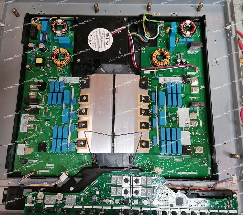 dépannage plaque induction Bosch PIE775N14E/01