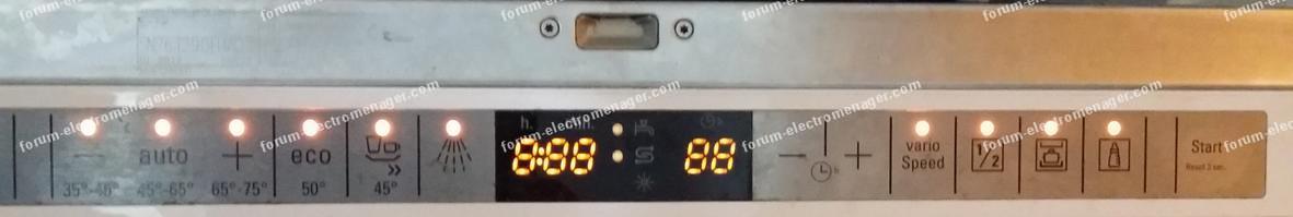bandeau lave-vaisselle Siemens SN26T290EU