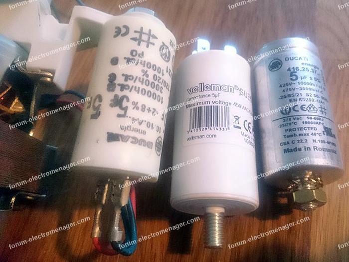 condensateurs 5uf lave vaisselle Ariston