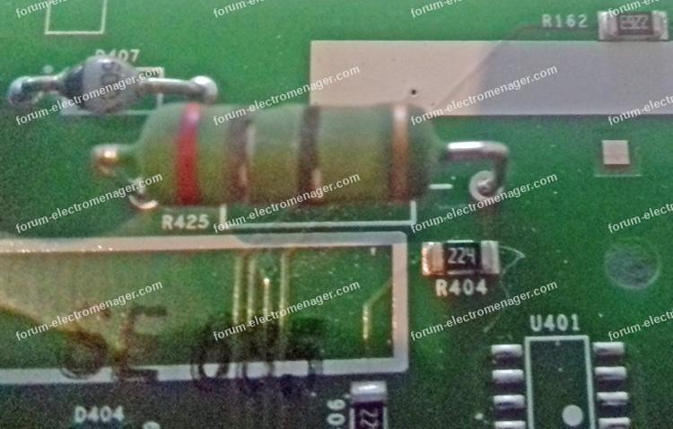 résistance carte lave-vaisselle Electrolux ESL6541LO