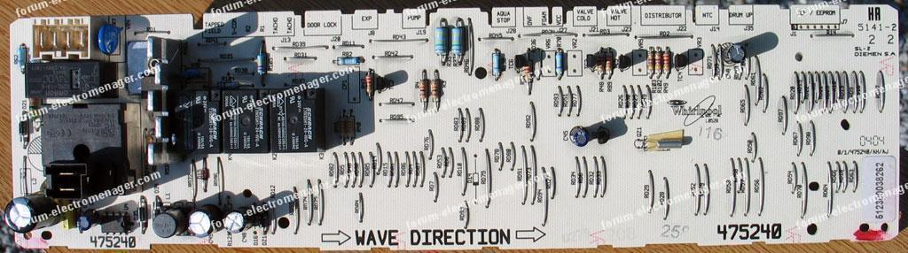 carte de contrôle machine à laver Laden FL1062