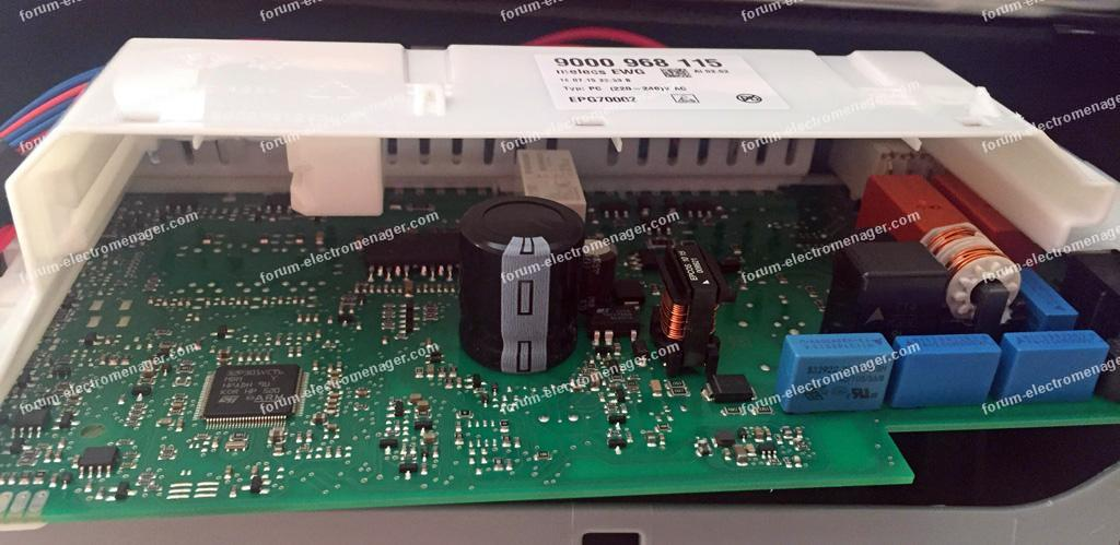 dépannage carte lave vaisselle Siemens