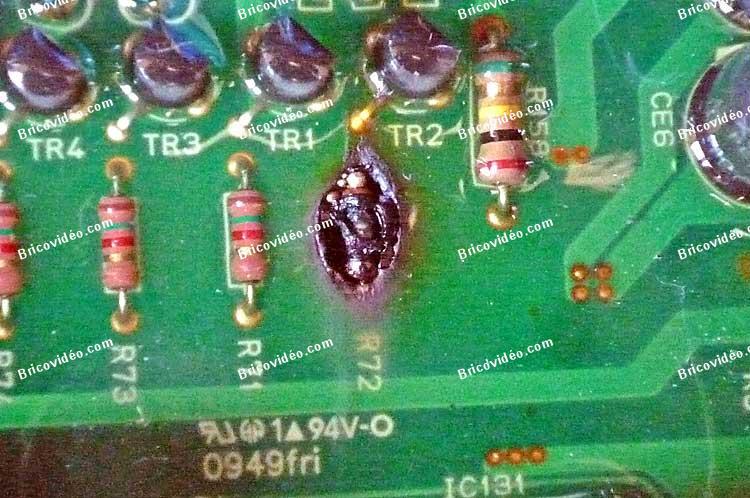 circuit imprime brulé lave vaisselle LG