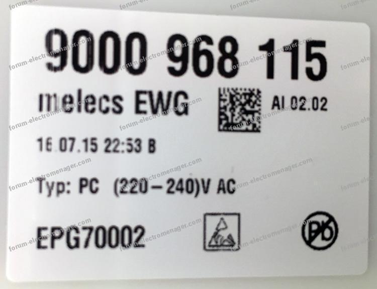 code E19 lave-vaisselle Siemens