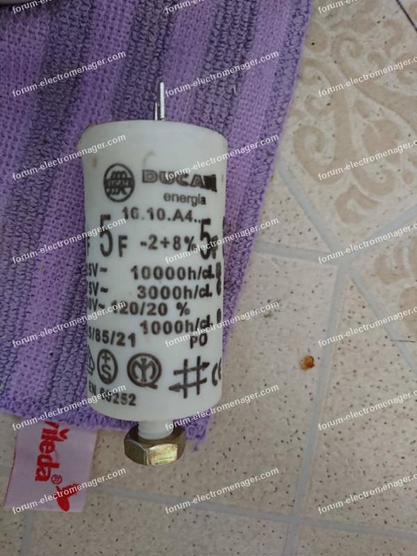 condensateur lave-vaisselle Ariston