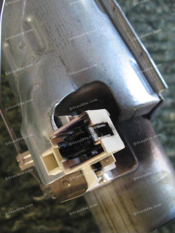 Connecteur résistance lave-vaisselle HS