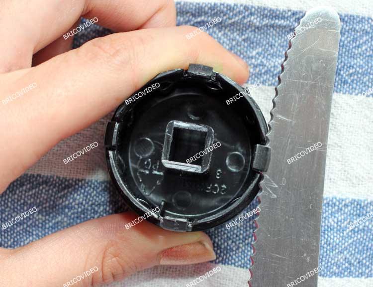 demontage bouton vapeur cafetiere krups
