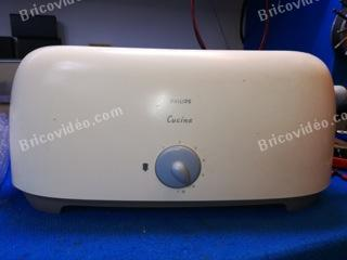 démontage grille pain Philips HD 2550