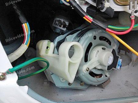 demontage moteur lave linge lg