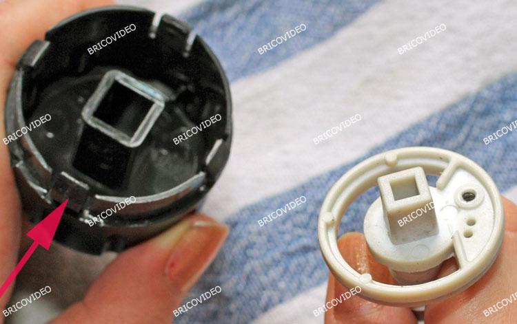 démontage bouton vapeur expresso Krups