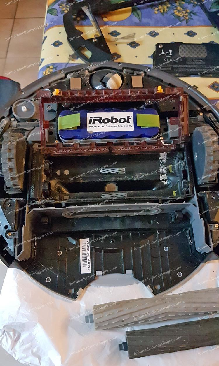 dépannage aspirateur Irobot Roomba 886