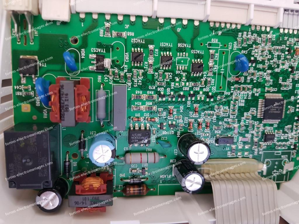 dépannage carte de contrôle lave vaisselle Arthur Martin Electrolux