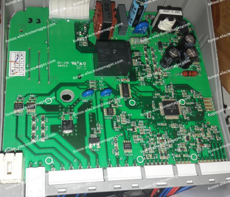 dépannage carte de contrôle lave vaisselle Electrolux