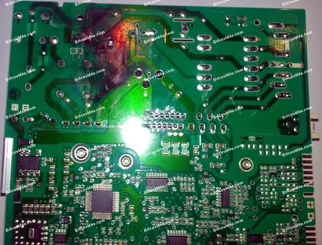 dépannage carte brûlée lave linge Whirlpool AWE 8760 GG