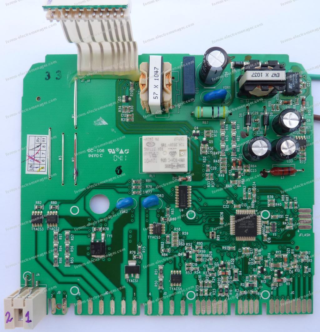 dépannage carte lave vaisselle Electrolux