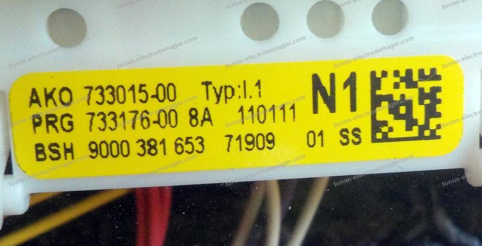 dépannage lave vaisselle Bosch SGV46MO3EP