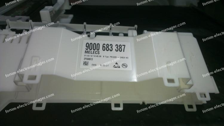 dépannage lave vaisselle Bosch SMS53M58FF