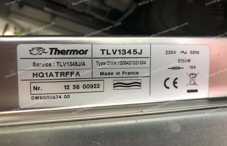 dépannage lave vaisselle Thermor