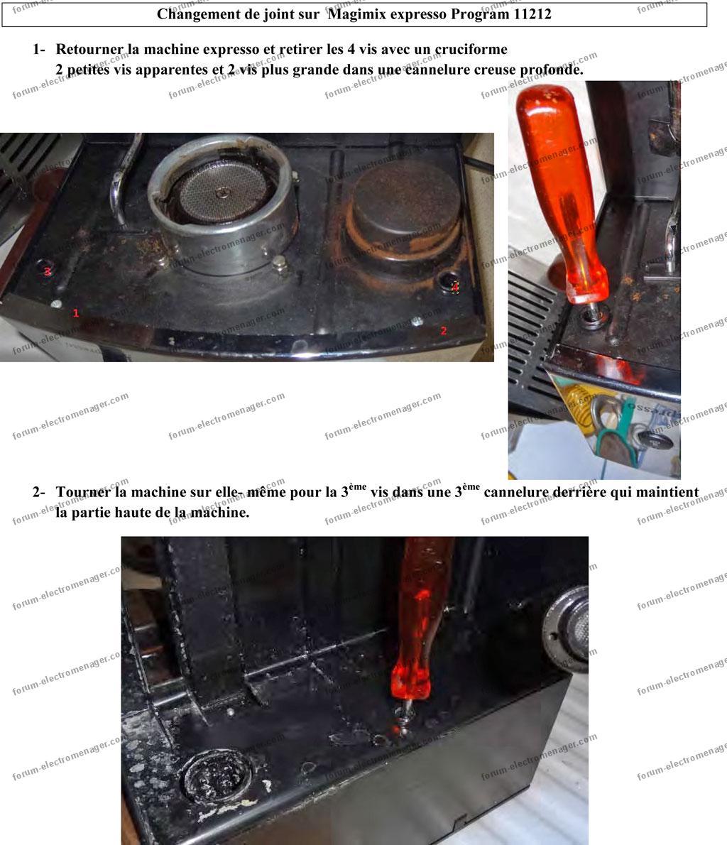 depannage machine a cafe expresso magimix