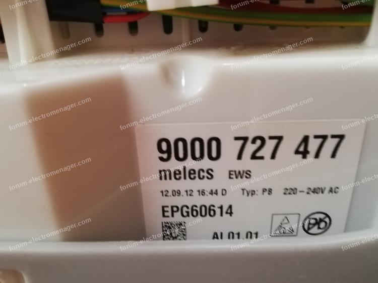 dépannage module de puissance lave vaisselle Siemens