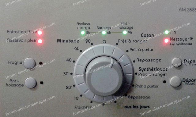 dépannage panne sèche-linge LADEN AM 3888
