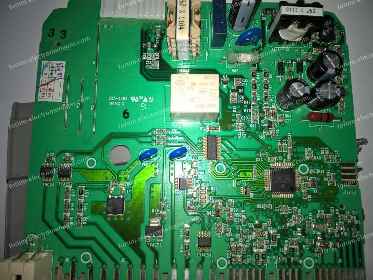 depanner carte lave vaisselle electrolux esf65031w