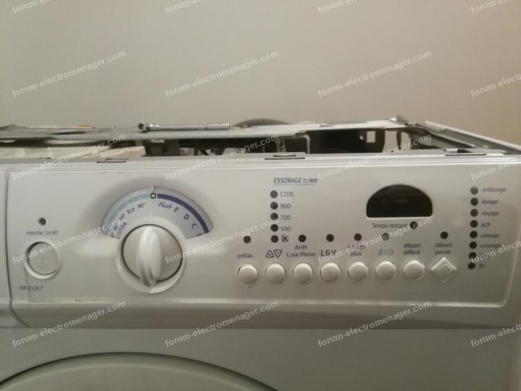 dépanner lave-linge Arthur Martin AW2126F