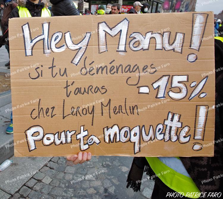 Manifestations des Gilets Jaunes Paris 2018