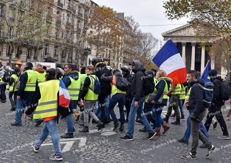 gilets jaunes manifestations Paris