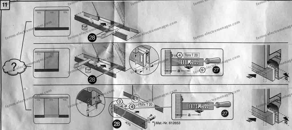 électroménager Bricovidéo Problème Installation Habillage