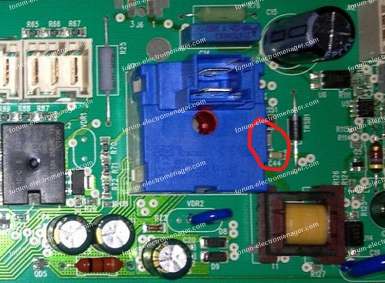 localisation condensateurs HS