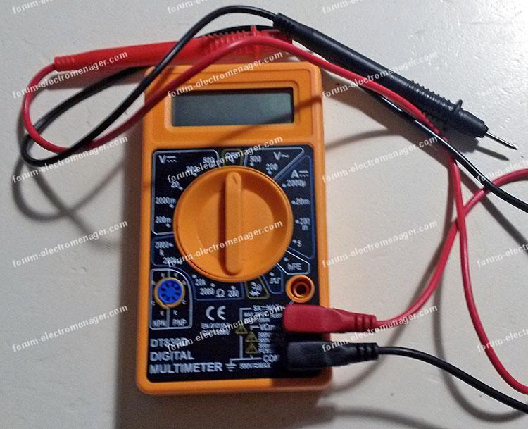 mesures multimètre dépannage électroménager