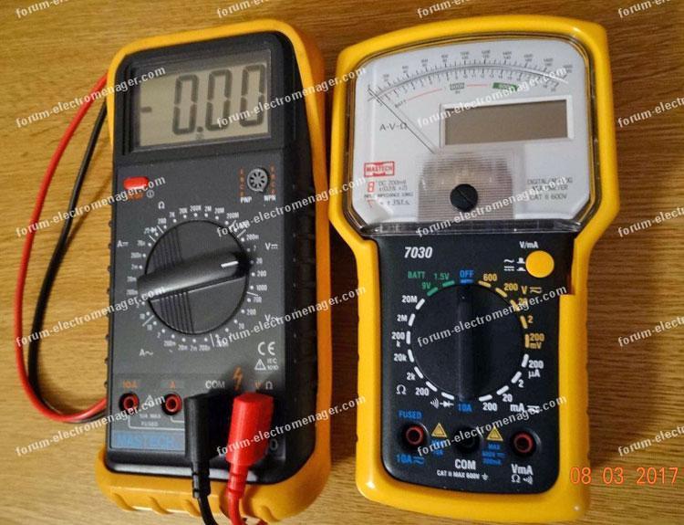 Multimètres forum dépannage électroménager