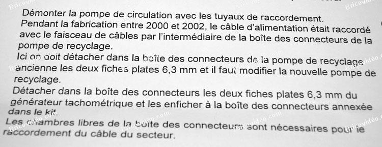 notice de modification