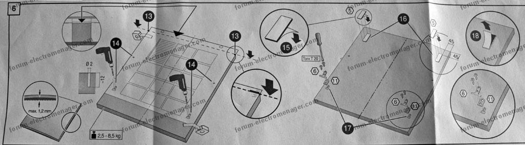 Fixation porte fa ade bois sur lave vaisselle bosch smv58l10eu - Fixation porte lave vaisselle encastrable ...