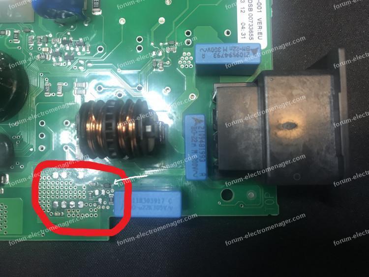 panne carte électronique lave vaisselle Bosch
