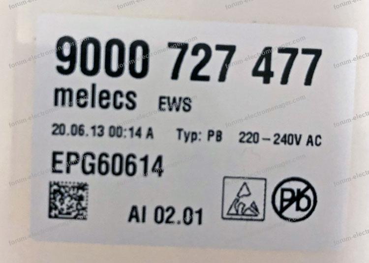dépannage carte lave vaisselle Bosch SMS53M58FF