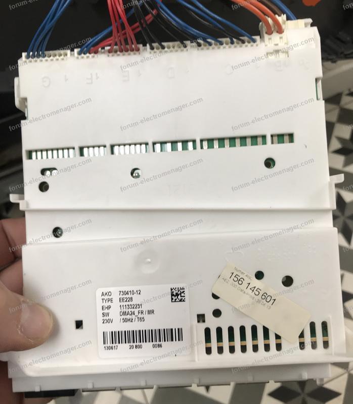 panne carte lave-vaisselle Electrolux Ikea Skinnande