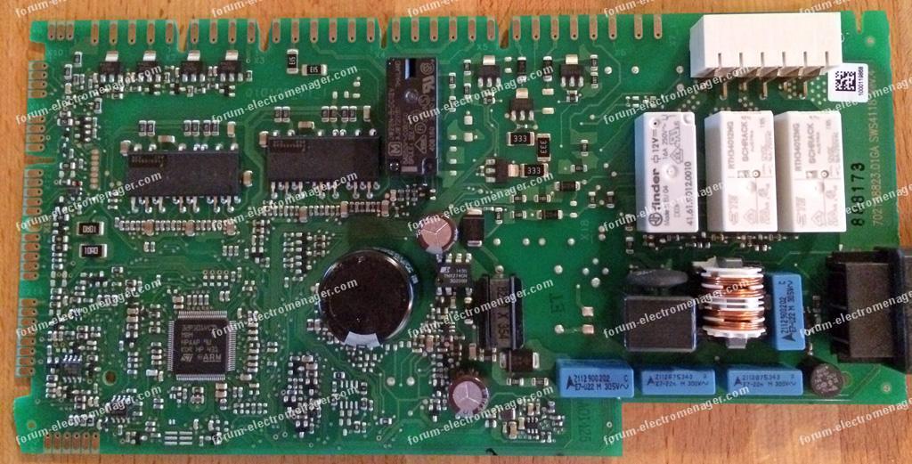 dépannage carte lave-vaisselle Siemens SN26M898EU
