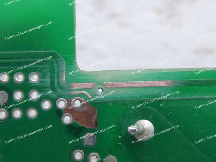pistes corrodées circuit imprimé