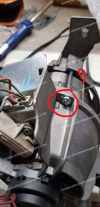 remplacer fil moteur machine à laver