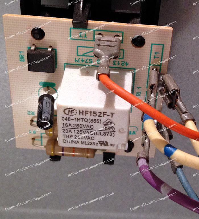 Remplacement programmateur sèche linge Curtiss CSE60