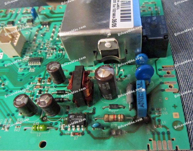 dépannage carte machine à laver AWF1373 Arthur Martin