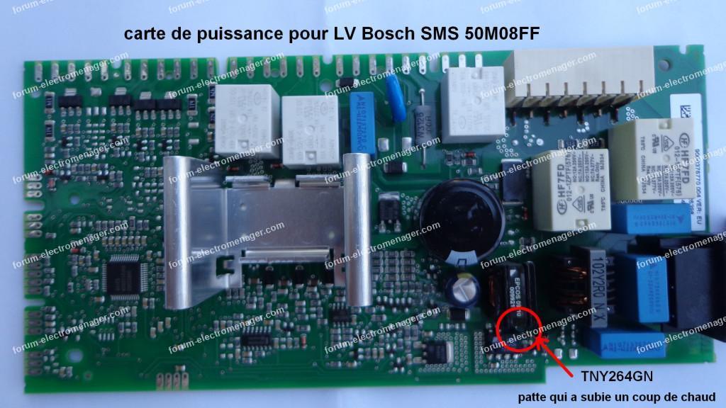 réparation carte puissance lave vaisselle Bosch