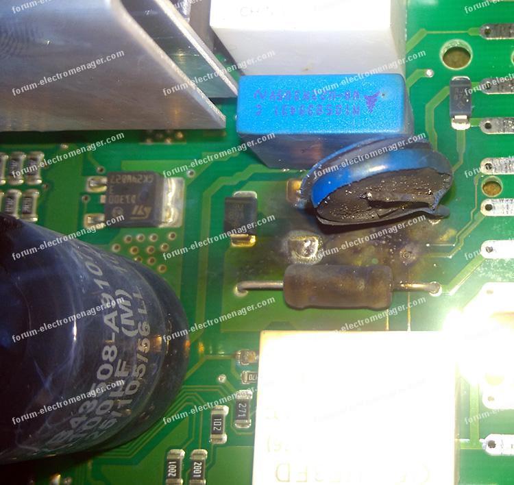 réparation carte puissance lave vaisselle