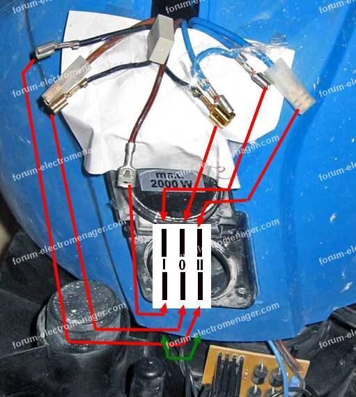 Schéma branchement moteur aspirateur