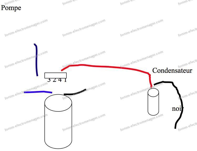 condensateur branchement