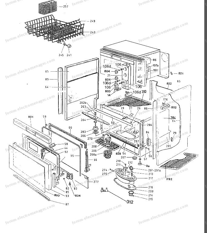 forum lectrom nager conseils r paration fermeture porte lave vaisselle rosi res trio u. Black Bedroom Furniture Sets. Home Design Ideas