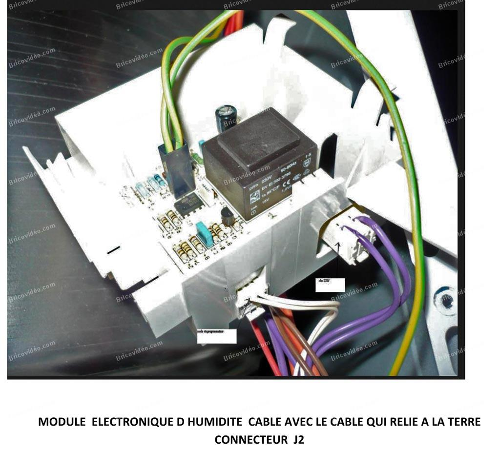 sèche linge capteur et module d'humidité
