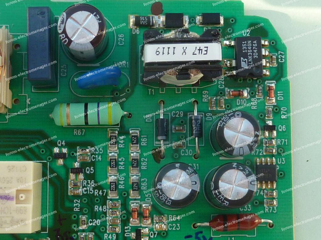 test carte électronique lave vaisselle